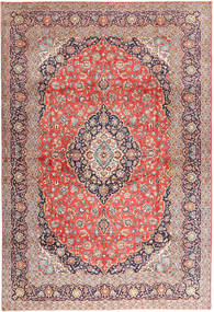 Keshan Rug 310X450 Authentic Oriental Handknotted Light Brown/Light Grey Large (Wool, Persia/Iran)