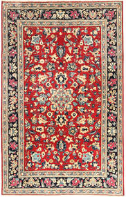 Yazd Rug 193X305 Authentic  Oriental Handknotted Beige/Rust Red (Wool, Persia/Iran)