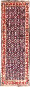 Hamadan Rug 112X322 Authentic  Oriental Handknotted Hallway Runner  Dark Purple/Purple (Wool, Persia/Iran)