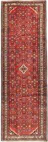 Hosseinabad Vloerkleed 105X310 Echt Oosters Handgeknoopt Tapijtloper Donkerrood/Donkerbruin (Wol, Perzië/Iran)