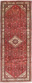 Hosseinabad Matto 110X303 Itämainen Käsinsolmittu Käytävämatto Tummanpunainen/Vaaleanruskea (Villa, Persia/Iran)