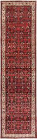 Hamadan Tapis 108X422 D'orient Fait Main Tapis Couloir Rouge Foncé/Marron Foncé (Laine, Perse/Iran)