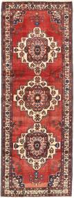 Hamadan Rug 116X315 Authentic  Oriental Handknotted Hallway Runner  Dark Red/Dark Brown/Rust Red (Wool, Persia/Iran)