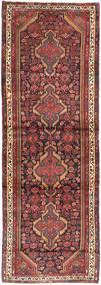 Hamadan Teppich  107X320 Echter Orientalischer Handgeknüpfter Läufer Dunkelrot/Dunkelbraun (Wolle, Persien/Iran)