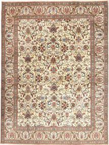 Tabriz Teppe 300X400 Ekte Orientalsk Håndknyttet Lysbrun/Mørk Beige Stort (Ull, Persia/Iran)