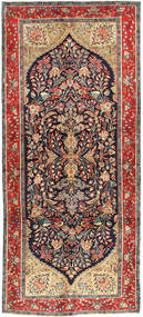 Koliai Rug 145X330 Authentic  Oriental Handknotted Hallway Runner  Dark Red/Dark Blue (Wool, Persia/Iran)