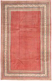 Sarough Mir Teppe 193X308 Ekte Orientalsk Håndknyttet Lysbrun/Orange (Ull, Persia/Iran)