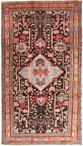 Nahavand Rug 200X350 Authentic Oriental Handknotted Brown/Dark Brown (Wool, Persia/Iran)