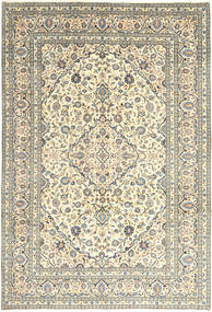 Keshan Rug 240X350 Authentic  Oriental Handknotted Beige/Light Grey (Wool, Persia/Iran)