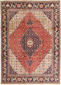 Tabriz Matto 240X330 Itämainen Käsinsolmittu Vaaleanruskea/Tummanvioletti (Villa, Persia/Iran)