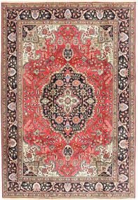 Tabriz Rug 200X287 Authentic  Oriental Handknotted Dark Red/Brown (Wool, Persia/Iran)