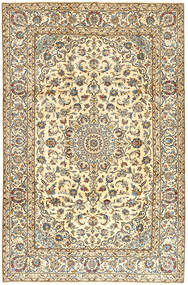 Keshan Rug 200X300 Authentic  Oriental Handknotted Beige/Light Brown (Wool, Persia/Iran)