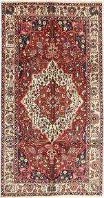 Bakhtiar Tæppe 157X296 Ægte Orientalsk Håndknyttet Mørkerød/Brun (Uld, Persien/Iran)