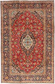 カシャン 絨毯 195X300 オリエンタル 手織り 薄茶色/濃い茶色 (ウール, ペルシャ/イラン)