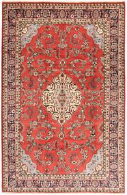 Hamadan Matta 200X310 Äkta Orientalisk Handknuten Ljusbrun/Roströd (Ull, Persien/Iran)