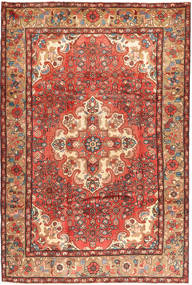 Hosseinabad Rug 210X315 Authentic  Oriental Handknotted Dark Red/Rust Red (Wool, Persia/Iran)