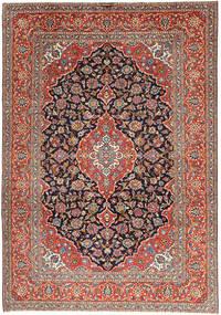 Keshan Rug 238X338 Authentic  Oriental Handknotted Light Grey/Dark Red (Wool, Persia/Iran)