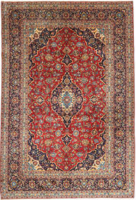 Keshan Rug 252X368 Authentic  Oriental Handknotted Brown/Dark Purple Large (Wool, Persia/Iran)