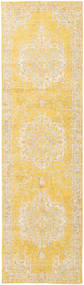 Nadia - Yellow Rug 80X300 Modern Hallway Runner  Yellow/Dark Beige ( Turkey)