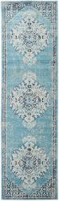 Turid - Blue Rug 80X300 Modern Hallway Runner  Light Blue/Turquoise Blue ( Turkey)