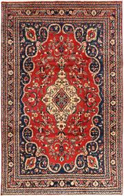 Hamadan Rug 228X355 Authentic Oriental Handknotted Rust Red/Black (Wool, Persia/Iran)