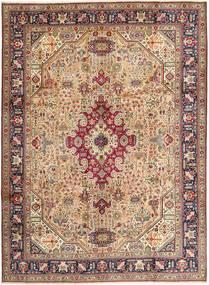 Tabriz Matto 257X345 Itämainen Käsinsolmittu Vaaleanruskea/Tummanpunainen Isot (Villa, Persia/Iran)