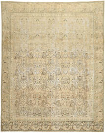Colored Vintage Rug 280X358 Authentic  Modern Handknotted Dark Beige/Light Green/Light Brown Large (Wool, Persia/Iran)
