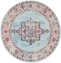 Tella Rug Ø 200 Modern Round Light Grey/Light Purple ( Turkey)