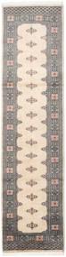 Pakistan Bokhara 2Ply Rug 79X309 Authentic  Oriental Handknotted Hallway Runner  Beige/Light Grey/Dark Grey (Wool, Pakistan)