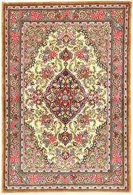 Qum Kork/Silk Rug 109X159 Authentic  Oriental Handknotted Light Brown (Wool, Persia/Iran)