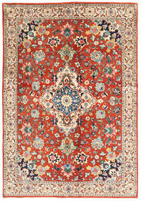 Tabriz Rug 140X198 Authentic  Oriental Handknotted Beige/Dark Brown (Wool, Persia/Iran)