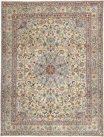 Kashmar Patina Teppe 294X386 Ekte Orientalsk Håndknyttet Lys Grå/Lysbrun Stort (Ull, Persia/Iran)