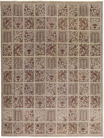 Tabriz Patina Rug 270X364 Authentic  Oriental Handknotted Light Brown/Brown Large (Wool, Persia/Iran)