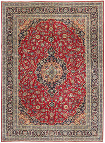 Keshan Patina Rug 247X337 Authentic  Oriental Handknotted Crimson Red/Black (Wool, Persia/Iran)