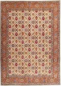 Tabriz Patina Teppe 250X345 Ekte Orientalsk Håndknyttet Brun/Lysbrun Stort (Ull, Persia/Iran)