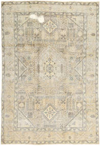 Colored Vintage Rug 197X287 Authentic Modern Handknotted Dark Beige/Light Grey/Beige (Wool, Persia/Iran)