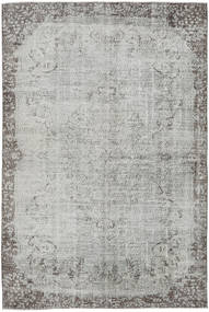 Colored Vintage Rug 195X282 Authentic  Modern Handknotted Light Grey/Dark Grey (Wool, Turkey)
