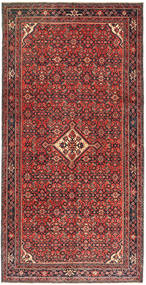 Hosseinabad Patina Rug 150X305 Authentic  Oriental Handknotted Dark Red/Brown (Wool, Persia/Iran)
