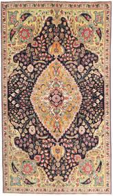 Tabriz Patina Matto 150X265 Itämainen Käsinsolmittu Ruskea/Tummanharmaa (Villa, Persia/Iran)