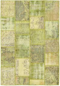 Patchwork Alfombra 159X234 Moderna Hecha A Mano Verde Claro/Amarillo (Lana, Turquía)