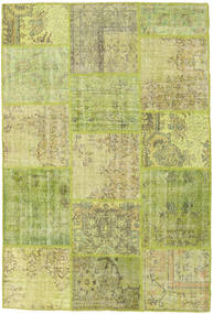Patchwork Rug 159X235 Authentic  Modern Handknotted Light Green/Olive Green (Wool, Turkey)