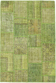 Patchwork Rug 157X234 Authentic  Modern Handknotted Light Green/Olive Green (Wool, Turkey)
