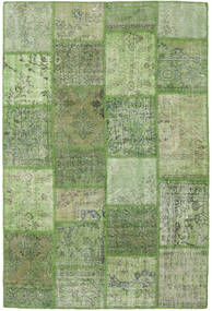 Patchwork Rug 158X236 Authentic  Modern Handknotted Olive Green/Light Green (Wool, Turkey)