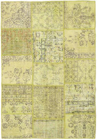 Patchwork Rug 158X232 Authentic  Modern Handknotted Yellow/Light Green (Wool, Turkey)