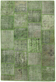 Patchwork Rug 155X232 Authentic  Modern Handknotted Olive Green/Dark Green (Wool, Turkey)