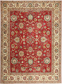 Tabriz Patina Rug 290X390 Authentic  Oriental Handknotted Light Brown/Rust Red Large (Wool, Persia/Iran)