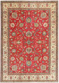 Tabriz Patina Matto 267X370 Itämainen Käsinsolmittu Tummanruskea/Ruskea Isot (Villa, Persia/Iran)