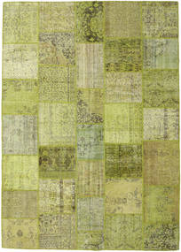 Patchwork Rug 249X352 Authentic  Modern Handknotted Olive Green/Light Green (Wool, Turkey)