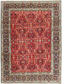 Tabriz Patina Matto 245X328 Itämainen Käsinsolmittu Tummanpunainen/Tummanruskea (Villa, Persia/Iran)
