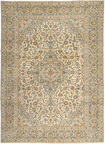 Kashan Patina Szőnyeg 272X365 Keleti Csomózású Világosbarna/Bézs Nagy (Gyapjú, Perzsia/Irán)